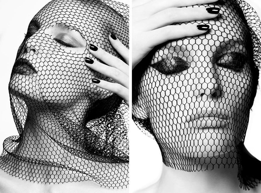Netting portrait black and white - Fernando Milani
